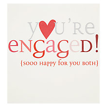 Buy Caroline Gardner You're Engaged Greeting Card Online at johnlewis.com
