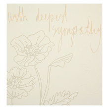 Buy Caroline Gardner With Deepest Sympathy Greeting Card Online at johnlewis.com