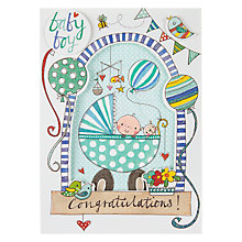 Buy Rachel Ellen Baby Boy Window Greeting Card Online at johnlewis.com