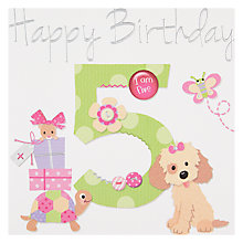 Buy Paperlink Happy 5th Birthday Card Online at johnlewis.com