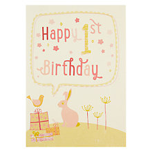 Buy Velvet Olive Girl 1st Birthday Card Online at johnlewis.com