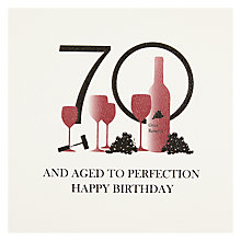 Buy Five Dollar Shake 70 And Aged To Perfection Birthday Card Online at johnlewis.com