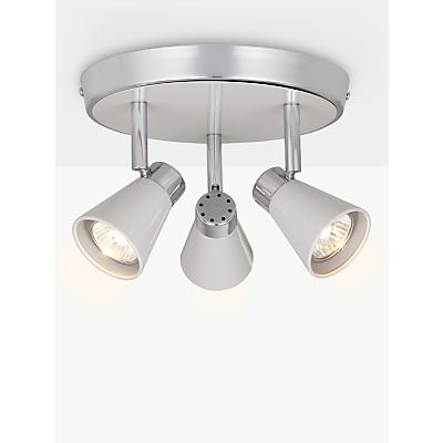 John Lewis Logan GU10 LED Spotlight Plate, 3 Light