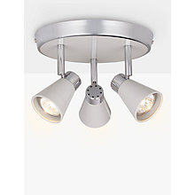 Buy John Lewis Logan GU10 LED 3-Plate Spotlight, Grey Online at johnlewis.com