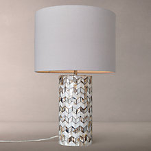Buy John Lewis Zig Zag Shell Table Lamp Online at johnlewis.com