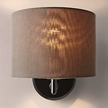 Buy John Lewis Presley Chrome Wall Light with Shade, Black Online at johnlewis.com