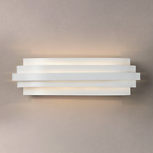 Buy John Lewis Oregon Layered Wall Light, White Online at johnlewis.com