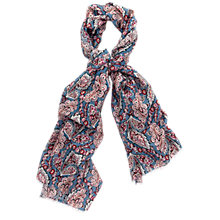 Buy Thomas Pink Paisley Printed Scarf, Pale Blue/Multi Online at johnlewis.com