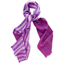 Buy Thomas Pink Reversible Stripe Scarf, Pink/Blue Online at johnlewis.com