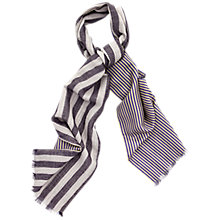 Buy Thomas Pink Reversible Stripe Scarf, Purple/Green Online at johnlewis.com