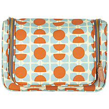 Buy Orla Kiely Square Flower Orange & Blue Large Wash Bag Online at johnlewis.com