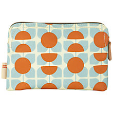 Buy Orla Kiely Flower Cosmetics Bag, Blue/Orange Online at johnlewis.com
