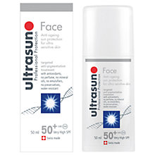 Buy Ultrasun SPF50+ Anti-Ageing Facial Sun Cream, 50ml Online at johnlewis.com
