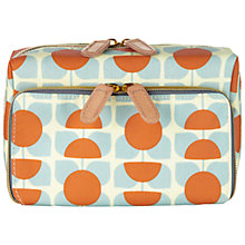 Buy Orla Kiely Square Flower Orange & Blue Wash Bag Online at johnlewis.com