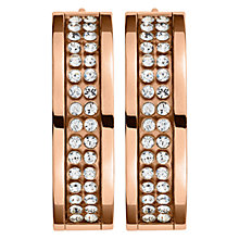 Buy Dyrberg/Kern Hennie Rose Gold Plated Swarovski Crystal Hoop Earrings, Rose Gold Online at johnlewis.com