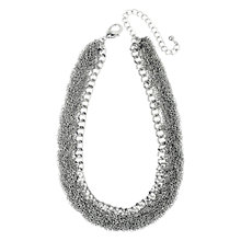 Buy Adele Marie Rhodium Plated Fine Chain Necklace, Silver Online at johnlewis.com