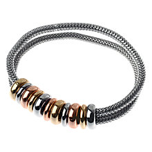 Buy Adele Marie Tri Beaded Mesh Row Silver Bracelet, Silver Online at johnlewis.com