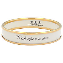 Buy Halcyon Days Wish Upon A Star Gold Plated Enamel Bangle Online at johnlewis.com