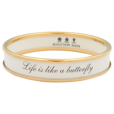 Halcyon Days Life Is Like A Butterfly Enamel Bangle