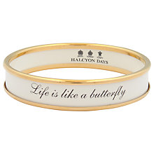 Buy Halcyon Days Life Is Like A Butterfly Gold Plated Enamel Bangle Online at johnlewis.com