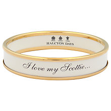 Buy Halcyon Days I Love My Scottie Gold Plated Enamel Bangle Online at johnlewis.com