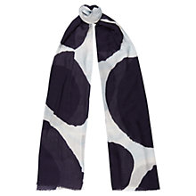 Buy Jaeger Modernist Spot Print Silk Scarf, Navy Online at johnlewis.com