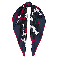 Buy Jaeger Merino Sheep Print Silk Scarf, Navy Online at johnlewis.com