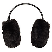 Buy Ted Baker Toree Faux Fur Earmuffs, Black Online at johnlewis.com