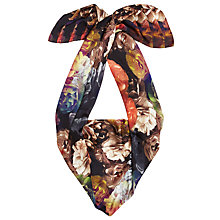 Buy Ted Baker Tiley Technicolour Wide Scarf, Black Online at johnlewis.com