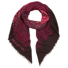 Buy Mulberry Crocodile Print Silk Blend Scarf Online at johnlewis.com