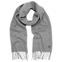 Buy Mulberry Cashmere Scarf, Marl Grey Online at johnlewis.com