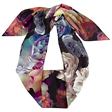 Buy Ted Baker Bloomey Technicolour Bloom Skinny Scarf, Black/Multi Online at johnlewis.com