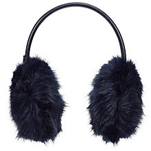Buy Ted Baker Toree Faux Fur Earmuffs, Navy Online at johnlewis.com