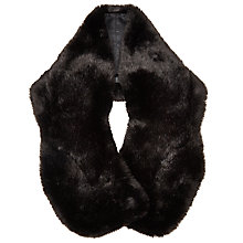 Buy John Lewis Faux Fur Wrap, Brown Online at johnlewis.com