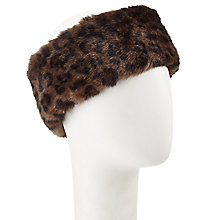 Buy John Lewis Faux Fur Animal Print Headband, Brown/Black Online at johnlewis.com