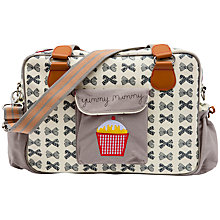 Buy Pink Lining Yummy Mummy Bow Print Changing Bag, Grey Online at johnlewis.com