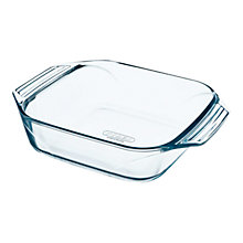 Buy Pyrex Optimum Glass Square Roaster, L25 x W25cm Online at johnlewis.com