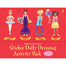 Buy Usborne Sticker Dolly Dress Activity Pack Online at johnlewis.com