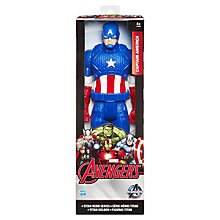 Buy Marvel Avengers Age of Ultron Titan Hero Series Captain America Action Figure Online at johnlewis.com