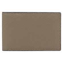 Buy Reiss Fox Leather Card Holder, Taupe Online at johnlewis.com