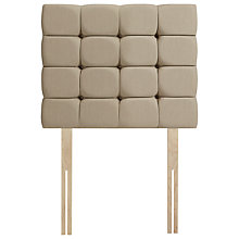 Buy John Lewis Sandringham Strutted Headboard, Single, Pebble Online at johnlewis.com