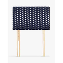 Buy John Lewis Star Print Square Strutted Headboard, Single Online at johnlewis.com