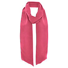 Buy Mint Velvet Skinny Silk Scarf, Pink Papaya Online at johnlewis.com