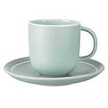Buy John Lewis Puritan Cup & Saucer, Mint Online at johnlewis.com