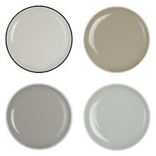 Buy John Lewis Puritan Tapas Plates, Set of 4, Multicoloured Online at johnlewis.com