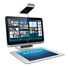 "Buy HP Sprout 23-s010na All-in-One Desktop PC, Intel Core i7, 8GB RAM, 1TB + 8GB SSHD, 23"" Touch Screen, HP Illuminator & Touchmat Online at johnlewis.com"