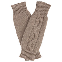 Buy John Lewis Made in Italy Cashmere Cable Fingerless Gloves Online at johnlewis.com