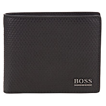 Buy BOSS Hitun Leather Billfold Wallet, Black Online at johnlewis.com