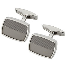 Buy BOSS Chad Cufflinks, Silver Online at johnlewis.com