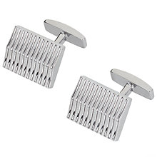 Buy BOSS Nigel Cufflinks, Silver Online at johnlewis.com